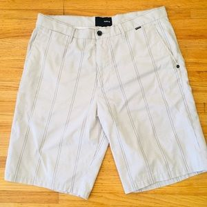 Hurley shorts large grid check pattern size 34